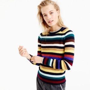 J. Crew Wool Multi-stripe Sweater